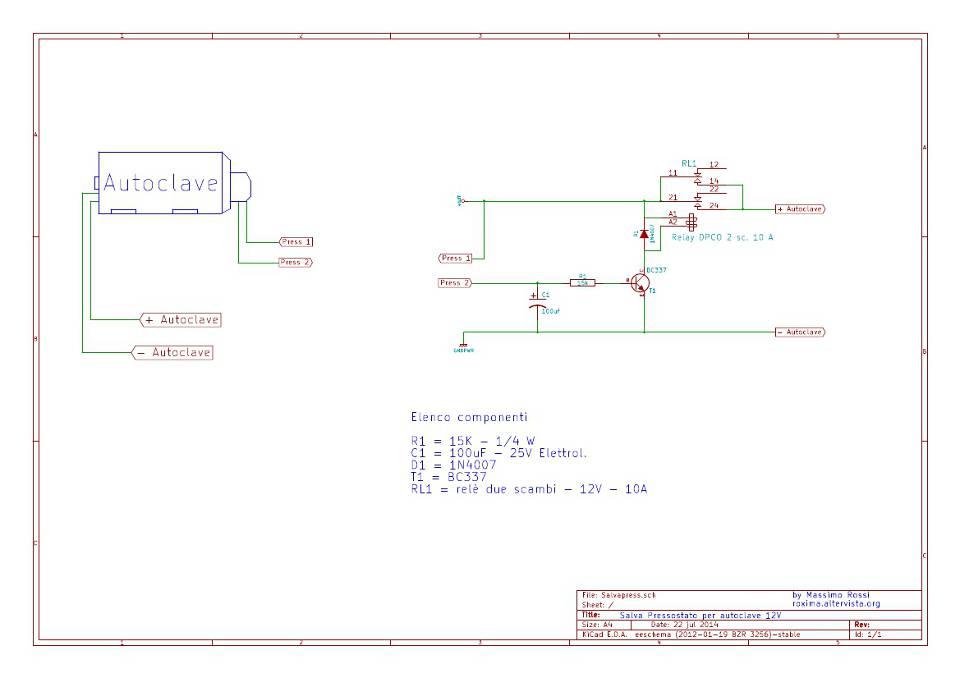 Schema Elettrico Per Autoclave : Salva pressostato per autoclave massimo rossi